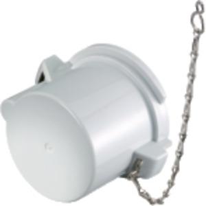 Schutzkappe mit Kette 63A grau