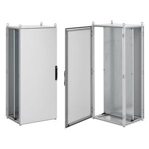 ProLine Schranksysteme, Typ 12, IP55, Größe in mm:  2000H 600B 500T Stahl, RAL 7