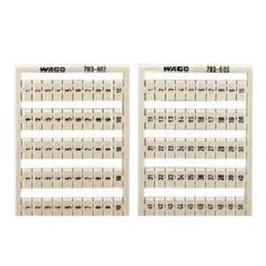 WMB-Beschriftungskarte 11 ... 20 (10x) nicht dehnbar Aufdruck senkrecht weiß