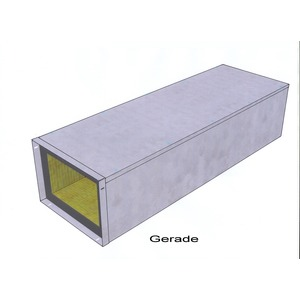 Kanal Easy I 30 - 160 x 100, Kanal gerades Stück 1.200 mm Easy I 30 - 160 x 100