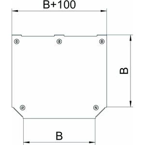DFTM 300 FS, Deckel T-Abzweigstück für RTM 300 B=300mm, St, FS