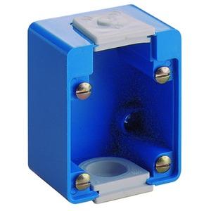 AP-Gehäuse für SCHUKO-Einbausteckdose, schwarz, IP54