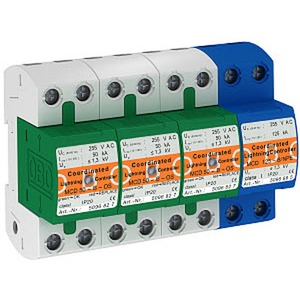 MCD 50-B 3+1-OS, CoordinatedLightningController Set mit Funktionsanzeige 255V