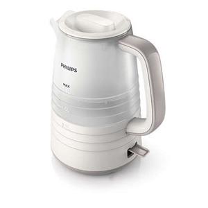 Wasserkocher, schnelle 2.200 W, 1.5 L Füllmenge, Wasserstandanzeige in Liter, herausnehmbarer Antikalkfilter, abnehmbarer Deckel, Farbe: Weiss