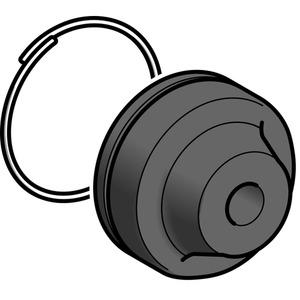 Schutzkappe m. Befest.ring XAC-B, f. Druckt. m. Schutzk., Polypropylen, 4mm