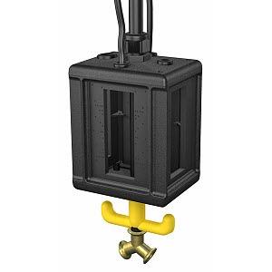VHF-8L LG, Versorgungseinheit IP44, Luft, mit Griff, leer 175x135x1100, PA, graphitschwarz, RAL 9011