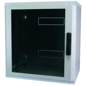 NWE-5A18/GL/SH, Wandgehäuse, 19 Zoll, 2-teilig, T=500mm, HE18, Tür, Glas, +Schwenkhebel