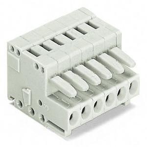 1-Leiter-Federleiste 100% FEHLSTECKGESCHÜTZT direkt bedruckt 1,5 mm² Rastermaß 3,5 mm 6-polig 1,50 mm2 lichtgrau