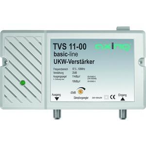 UKW-Verstärker, 25 dB, 87,5-108 MHz, max. 20 dB Dämpfung einstellbar