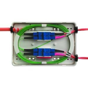 MICRO-Spleißbox inkl. Kupplungsplatte, Spleißschutzhalter, Zubehör