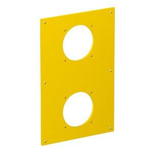 VHF-P8, Abdeckplatte für 2x Steckdose 38x38 160x105x3mm, PVC, rapsgelb, RAL 1021
