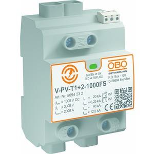 V-PV-T1+2-1000FS, CombiController V-PV Y-Schaltung für PV-Anlagen +FS 1000V DC, grau