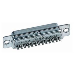 Steckverbinder, Lötkelchanschluss, Bemessungsstrom: 7,5A, Stift, Baugröße: D-Sub 1