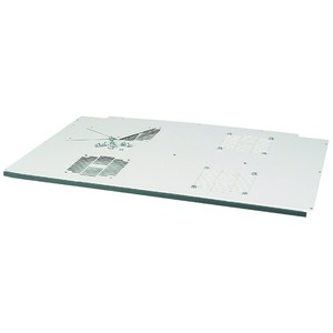 NWS-DAD/4LUE/6800/M, Dachplatte, für BxT=600x800mm, +4 Lüfteröffnungen, montiert