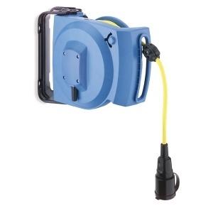 LRZSI12/SCH21, Federzug-Leitungsroller 12m 3G1,5mm²Vollgummi-Schutzkontaktkupplung
