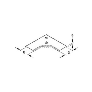 RESKDV 100, Deckel für Bogen 90° für Mini-Kabelrinne, Breite 104mm, mit Drehriegel, Stahl, bandverzinkt DIN EN 10346