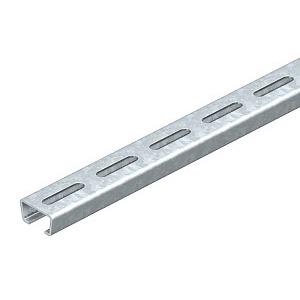 AMS3518P2000FS, Profilschiene langgelocht, Schlitzweite 16,5mm 2000x35x18 / Obo Nr. 1112708