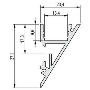 Profil Aluminium WALLLIGHT 2.0 RAL9010 2m