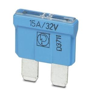 SI FORM C  15 A DIN 72581, Flachsicherungseinsatz, (max. 32 V), Nennstrom 15 A, DIN 72581, Farbe: hellblau