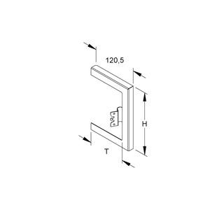 GWB 170T100 W, GK-Wandabschlussblende, einzügig, 211x100 mm, Stahl, bandverzinkt DIN EN 10346, pulverbeschichtet,RAL 9001,cremeweiß