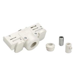 EUTRAC 3-Phasen Stromschienen- adapter, weiss inkl. Montagezubehör
