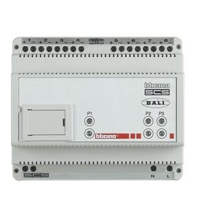 SCS-DALI Gateway, zur Ansteuerung von elektr. Vorschaltgeräten mit DALI-Schnittstellen. 8 Kanäle, 6 TE DIN