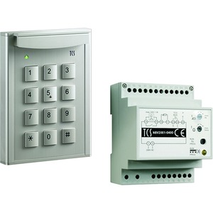 code:pack mit Codechloss codelock12 für bis zu 10 Zahlencodes, eloxiert silber + Steuergerät BVS20