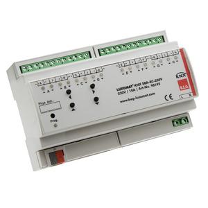 KNX SBA-8C-230V, Die Jalousieaktoren KNX SBA-4C-230V und KNX SBA-8C-230V empfangen KNX/EIB-Telegramme und steuern mehrere Jalousieantriebe mit Endlagenschaltern unabhängig voneinander