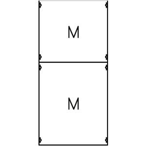 2M3A, Montageplatten-Modul 7RE / BH3, 2 FB Modul montiert auf EDF-Profil