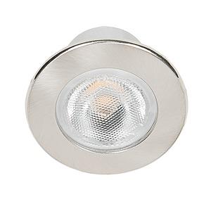 LED Mini Spot R nickel-geb. 3,3W warmweiß 38°, LED Mini Spot R nickel-geb. 3,3W warmweiß 38°