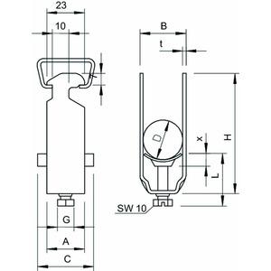 2056 2 58 A2, Bügelschelle 2-fach 52-58mm, V2A, A2