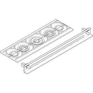 ULP5, Leitungseinführungsplatte für UP/HW Flachverteiler, als Rohrflansch 12xM25