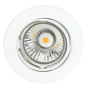 ETG 1006 WEISS, NV-Einbaustrahler schwenkbar G5.3, d=75 mm max. 50 W weiß, 4311563100