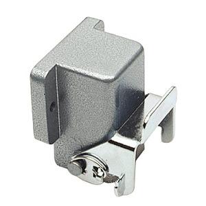 Anbaugehäuse gewinkelt A3, A4, A5 und D8 aus Zink der Höhe 25,5mm mit Längsverriegelungsbügel-704503