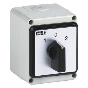 WS, Universal-Wendeschalter für AP- (IP54) + UP- (IP30) Montage, 1-+ 3-PH