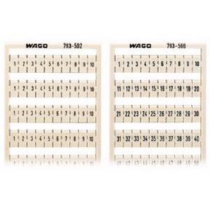 WMB-Beschriftungskarte 151 ... 200 (2x) nicht dehnbar Aufdruck waagerecht weiß