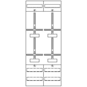 2ZF41, Zählerfeld BH4 2-Feld nicht verdrahtet mit Zählerkreuz