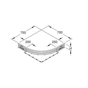 WAER 105, Eckanbaustück, Höhe 106,5 mm, rund, gesickt, ungelocht, Stahl, bandverzinkt DIN EN 10346, inkl. Zubehör