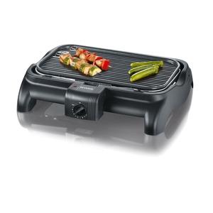 Barbecue-Grill, ca. 1600 W, Regler schwarz antihaft-beschichtete
