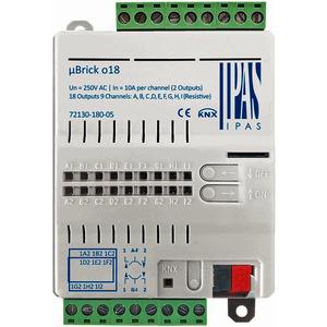 72130-180-05, IPAS uBrick o18, Multifunktionsaktor mit bis zu 18 digitalen Ausgängen (18 x Schalten/9 x Antriebe) 10A