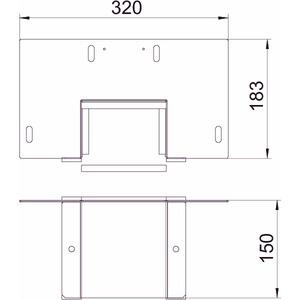 BSKM-WA 0711RW, Wandanschluss 0711 für Wand- und Deckenmontage 70x110, St, L, reinweiß, RAL 9010
