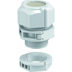 V-TEC TB20, Kabelverschraubung, teilbar Dichteinsatz, geschlossen M20, PC, lichtgrau