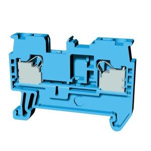 XW5T-P2.5-1.1-1BL, Reihenklemme, Durchgangsklemme, DIN-Hutschiene, TS 35, 2.5mm², Push-In Plus, blau