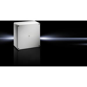 PK 9521.000, Polycarbonat-Gehäuse PK, grauer Deckel, BHT 254x180x111mm