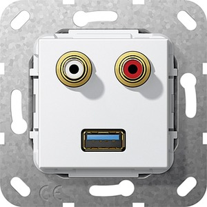 C-Audio USB 3.0 A K-Peitsche Einsatz Reinweiß