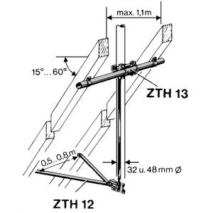 ZTH 12-MASTHALTERUNG UNT., Masthalterung unten ZTH 12 für Mastdurchmesser: 32 u. 48 mm
