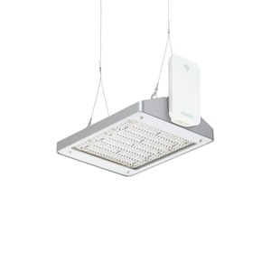 BY470X GRN130S/840 WB GC ACW SI, GentleSpace GreenWarehouse - LED GreenLine system flux 13000 lm - 840 Neutralweiß - Breitstrahlend - Klarglas - ActiLume wireless - Silber