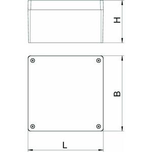 Mx 161609 SGT, Aluminiumleergehäuse 160x160x90, AlG, SGT