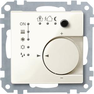 KNX RTR UP/PI m. Tasterschnittstelle 4fach, weiß glänzend, System M