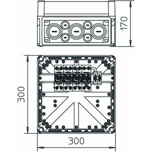 MCD 50-B 3+1-VG, CoordinatedLightningController Set Typ 1 Ableiter im Gehäuse 255V